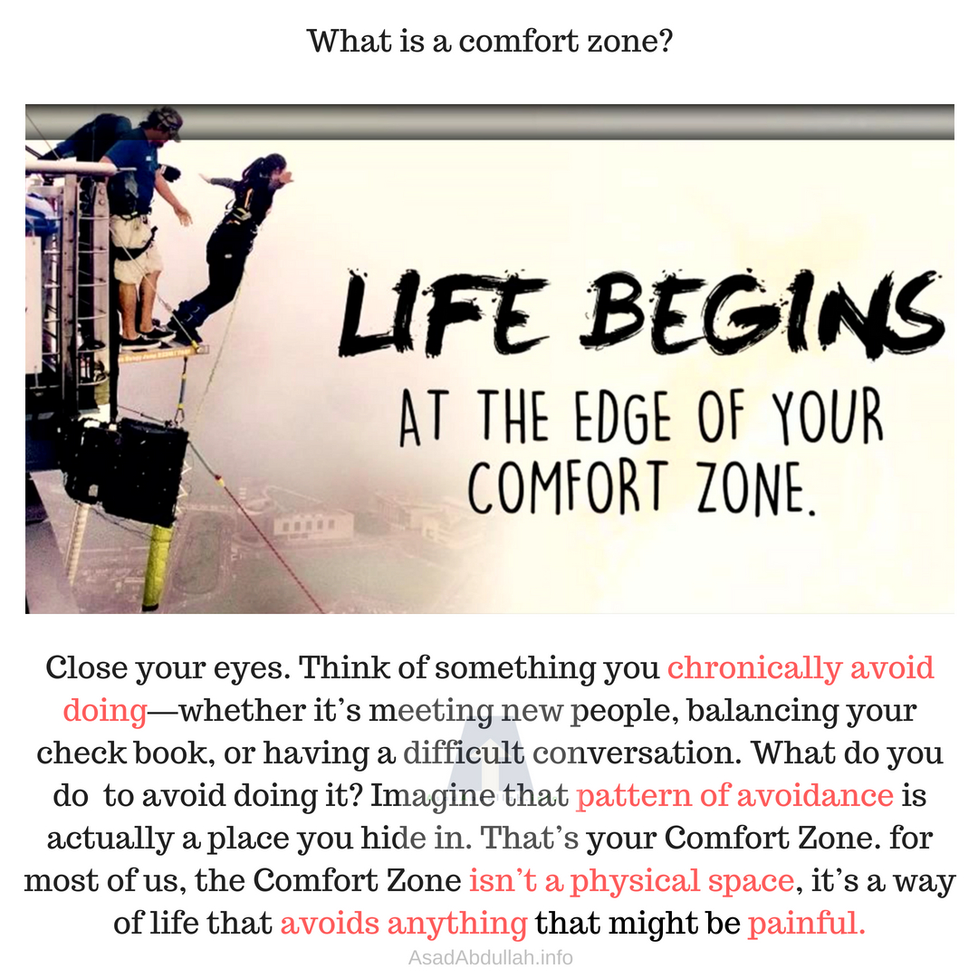 Do we know our comfort zone?